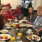 buffet breakfast with the CIR crew (photo by one of two members of the region neighboring this Treffen!) — with Eli Ralston, Wendy Ralston, Erica Faunce and Bob Snider at Fairmont Banff Springs.
