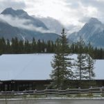 nothing to see here - just a visitors' center nestled in some handsome mountains, trees & wildlife