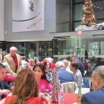 friendly conversation, festive decor . . . — with Lee Douthitt.