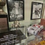 didn't know Dean raced competitively - he has trophies — at Fairmount Historical Museum.