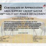 Army Certificate of Appreciation