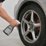 now we'll demonstrate the BEST wheel cleaner available - just spray . . .
